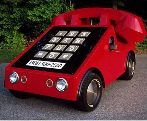 سيارة من وحي الهاتف