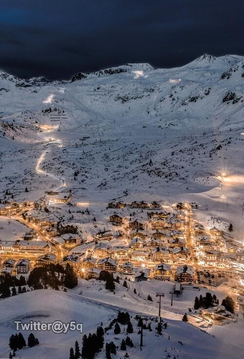 الشتاء في بلدة Obertauern المتواجدة في النمسا.