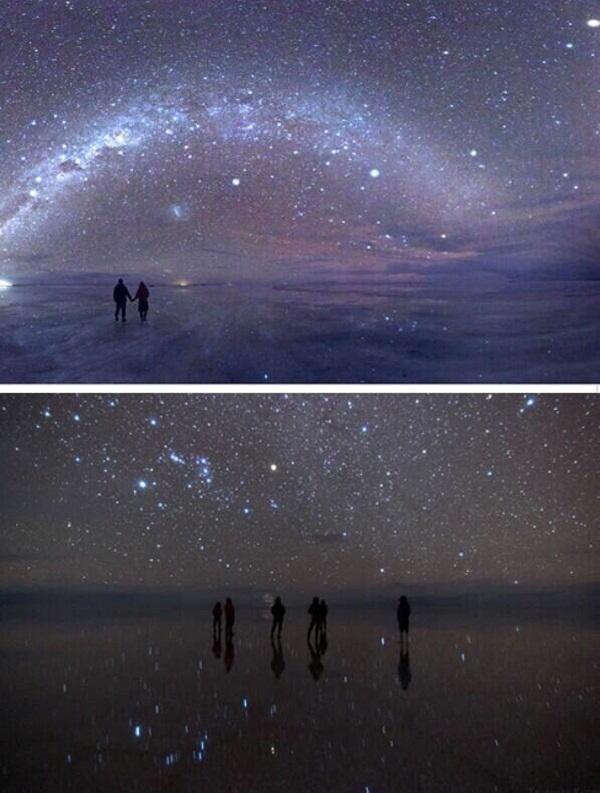 ورة ليلية حديثة للصحراء الملحية في بوليفيا