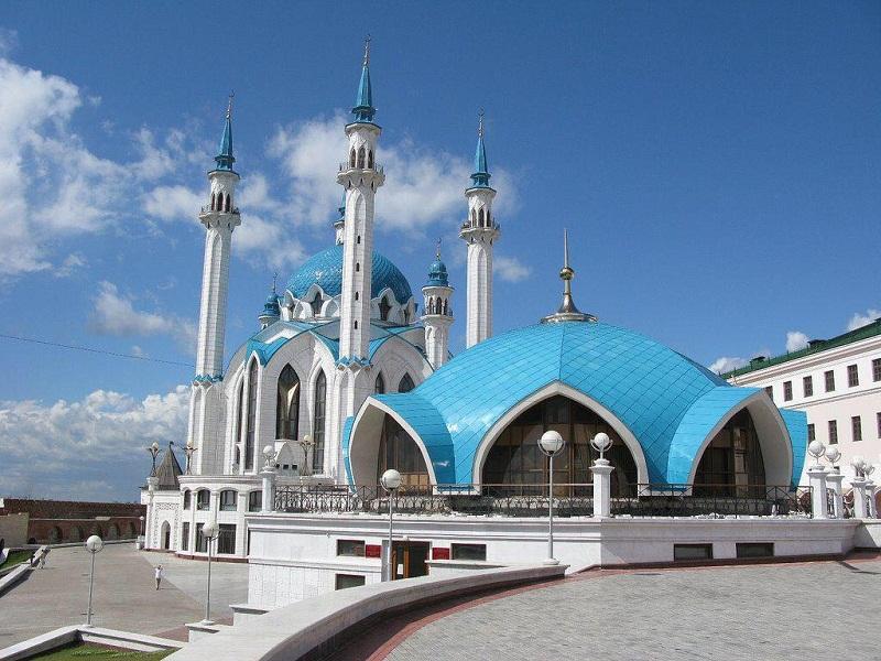 صور منوع مسجد قول شريف في روسيا.