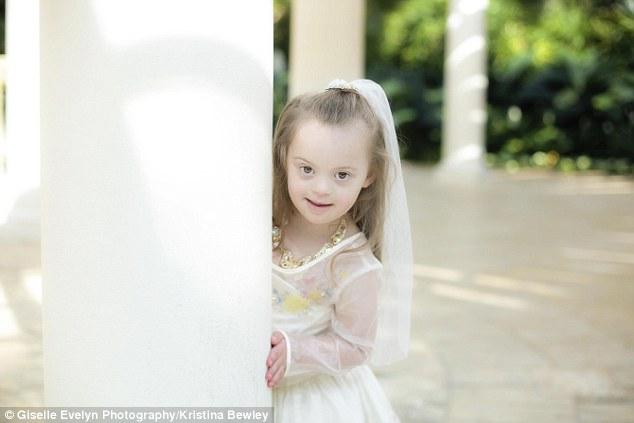 جيزيل طفلة تعاني من متلازمة داون تصبح أميرة