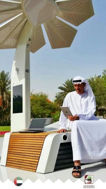 مدير عام بلدية دبي يستعرض تفاصيل النخلة الذكية