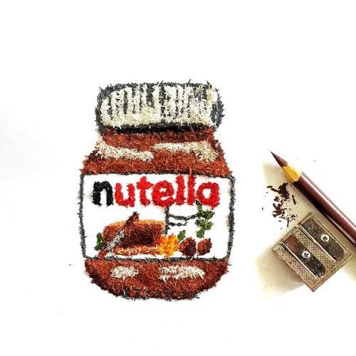 نوتيلا بنشارة قلم الرصاص