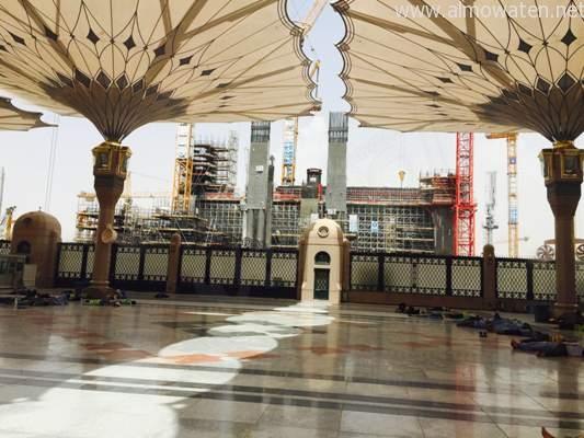 صور: توسعة ساحات الحرم النبوي