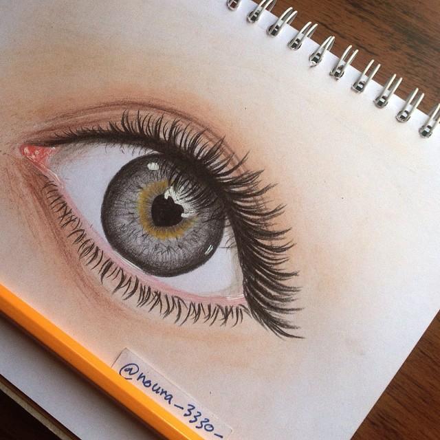 أجمل رسمة عين