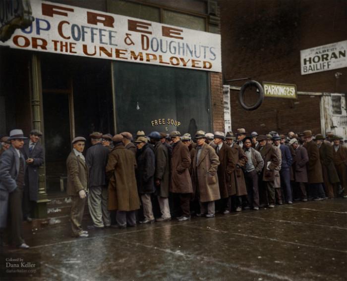 مطبخ الحساء آل كابوني في شيكاغو خلال فترة الكساد العظيم،