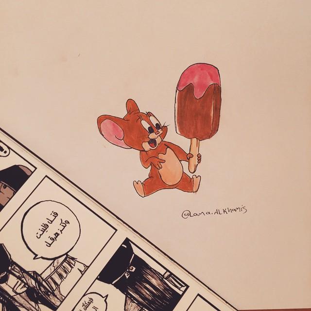 رسم الفأر جيري