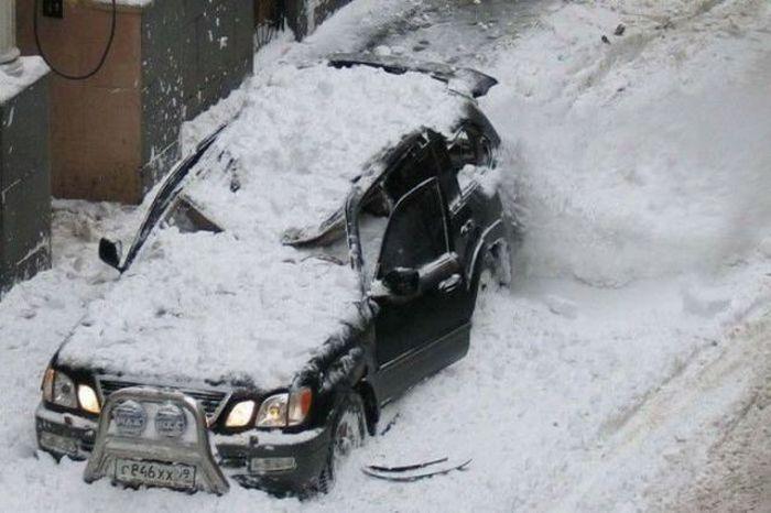 الثلج والقيادة