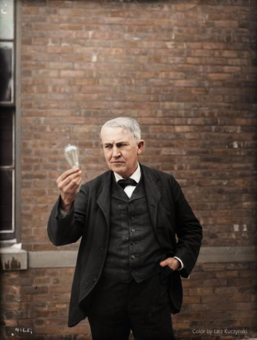 المخترع و الفيزيائي توماس اديسون ، نيو جيرسي، (1911) صور قديمة ملونة