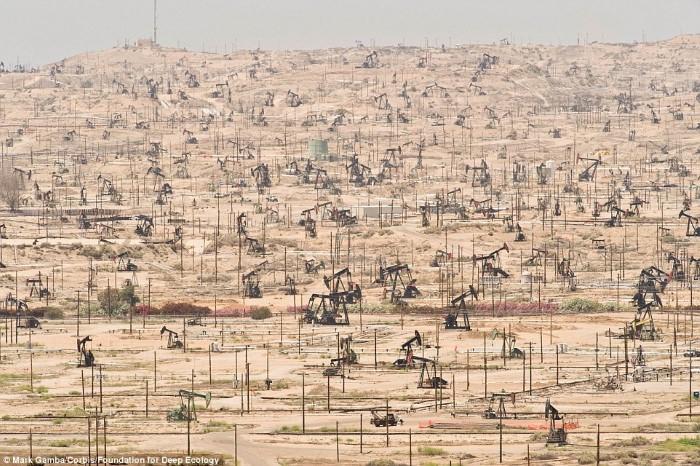 حقول النفط في كاليفورنيا، الولايات المتحدة