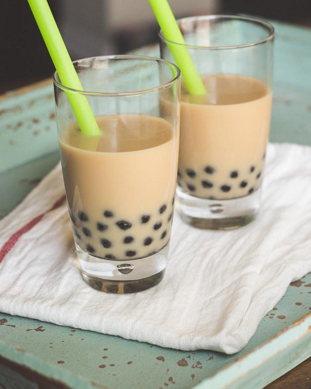 مشروب جوز الهند Chai مع الشاي