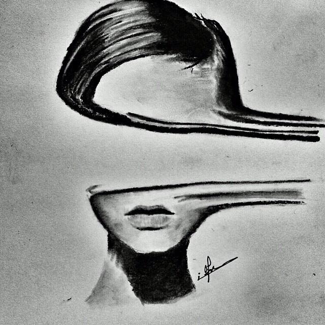 لوحات رسم تشكيلي لوجوه البشر