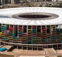 brazil stadiums turned to homes for displaced people