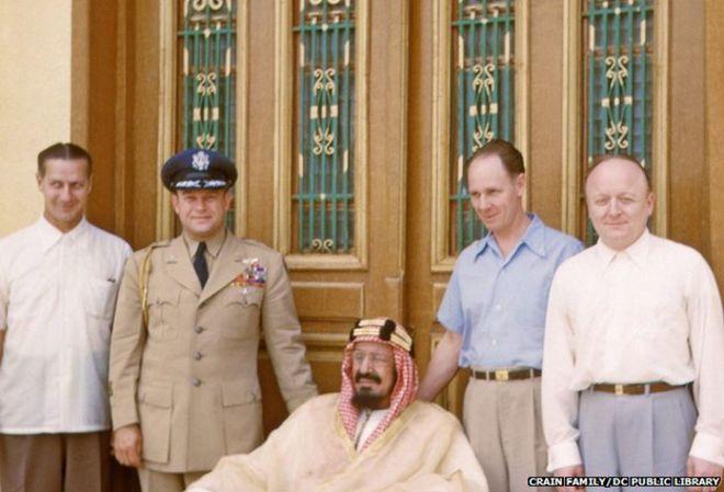 زيارة فريق طبي أمريكي للملك عبد العزيز