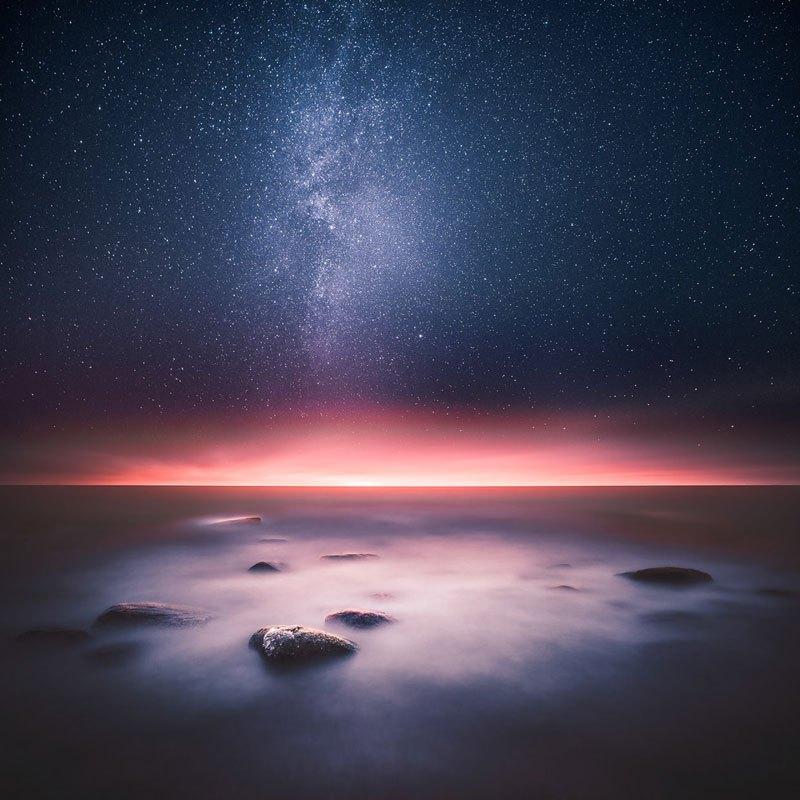 السماء ليلاً