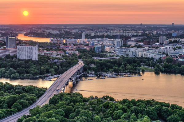 مدينة ستوكهولم في السويد.