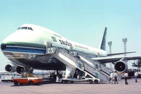 العهد الذهبي للخطوط السعودية مطار بيروت ١٣٩٧هـ الموافق ١٩٧٧م.