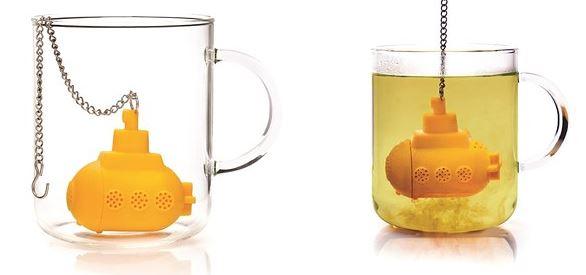 غواصة تعمل مثل كيس الشاي