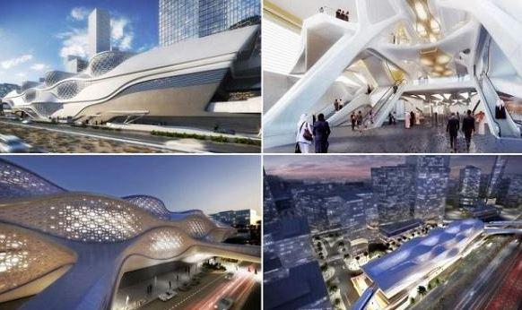 محطة مترو في مركز الملك عبد الله المالي2