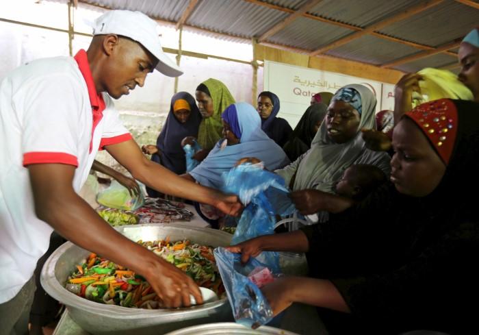 مساعدات قطر الخيرية في رمضان2