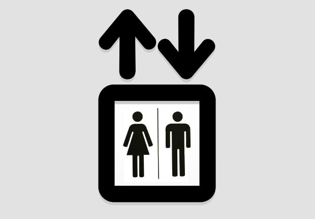 مصاعد مزودة بمرحاض