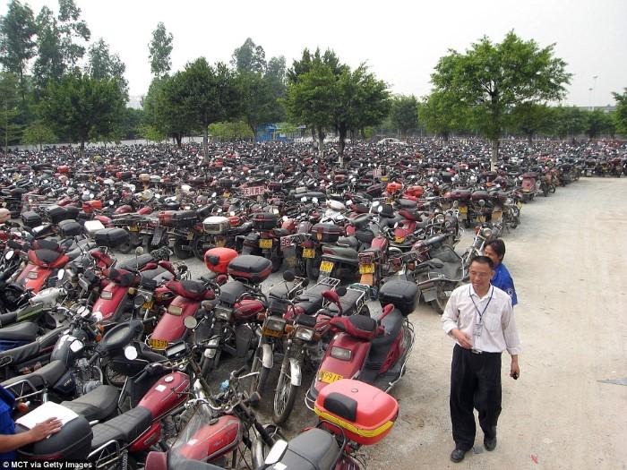 مقبرة الدراجات في الصين