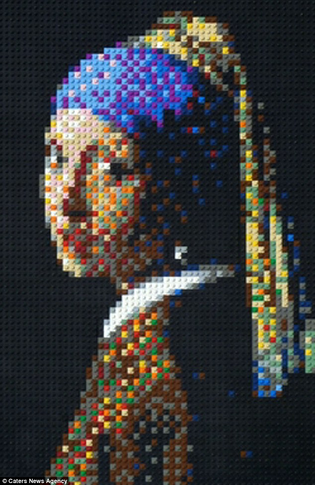 فنان يعيد بناء أشهر اللوحات التاريخية ب قطع الليجو