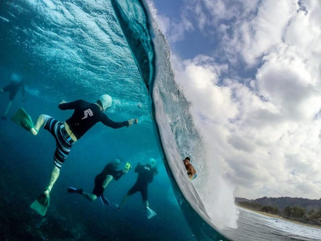 تصوير راكبي الأمواج في صور منوعة