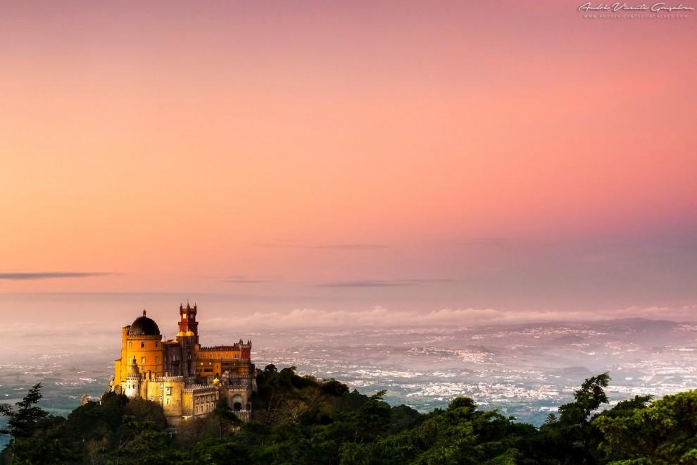 مناظر جميلة من البرتغال قصر بينا في سينترا