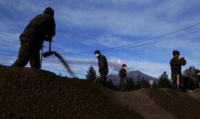 رماد بركان تشيلي العظيم