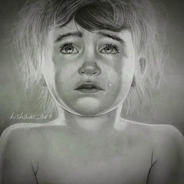رسم طفلة صغيرة