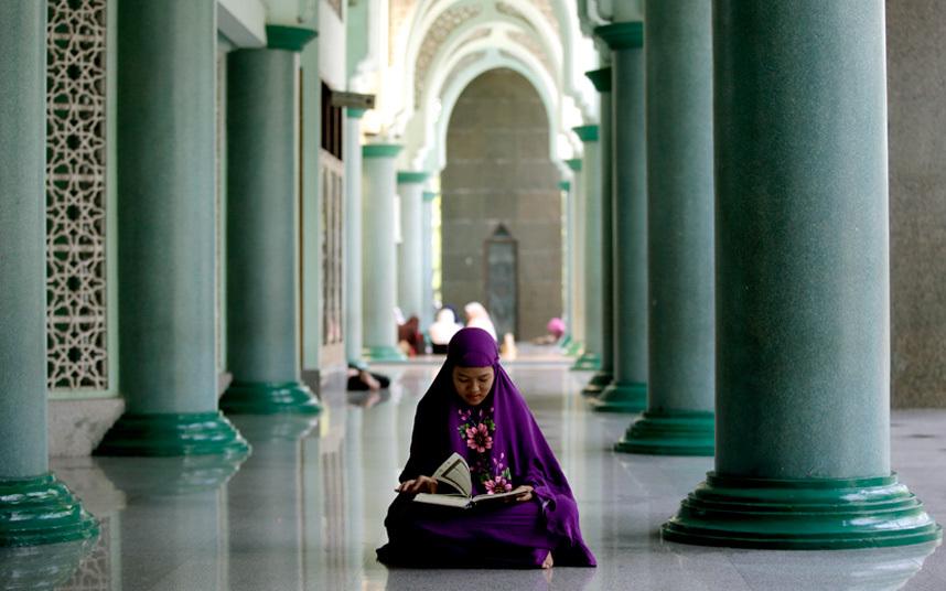 فتاة ماليزية مسلمة