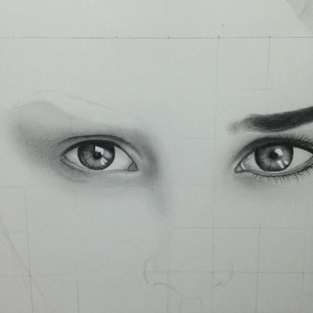 رسم العيون بالقلم الرصاص