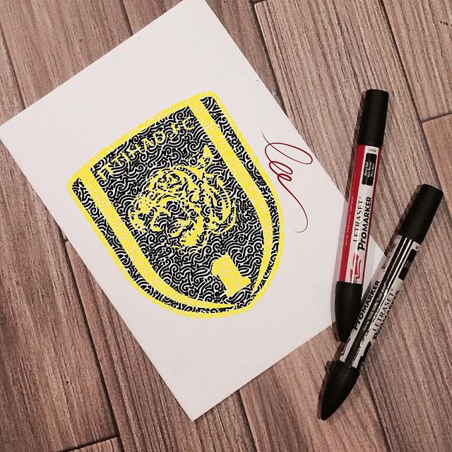 شعار الاتحاد بأسلوب فني جميل