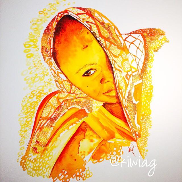 ابداع الرسم بالزعفران