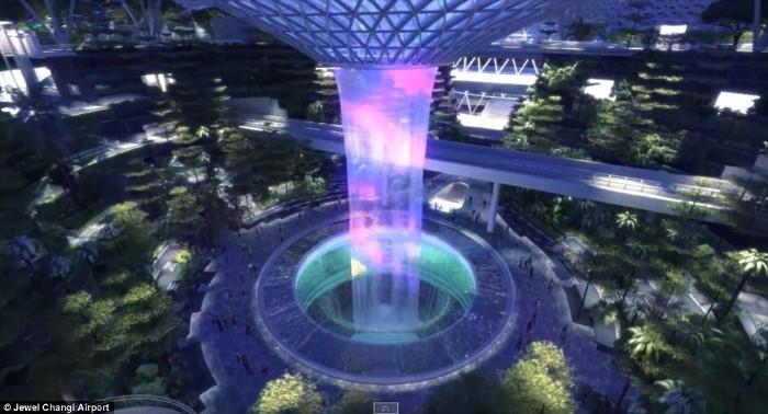 التصميم المستقبلي ل مطار شانغي في سنغافورة