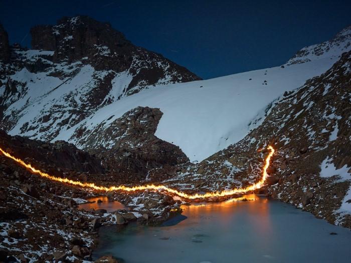 ذوبان الأنهار الجليدية على جبل كينيا لويس