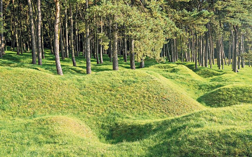 آثار خنادق الحرب العالمية الأولى في الغابات الفرنسية