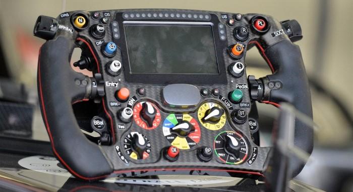 Sauber's 2014 Formula 1 steering wheel
