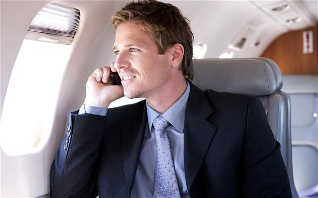 الهواتف في الطائرات