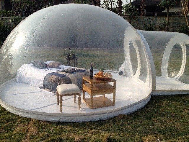 خيمة-شفافة