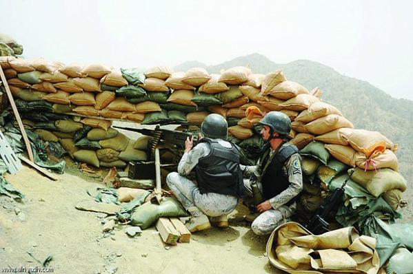صورة للجنود المرابطين على الحد الجنوبي.