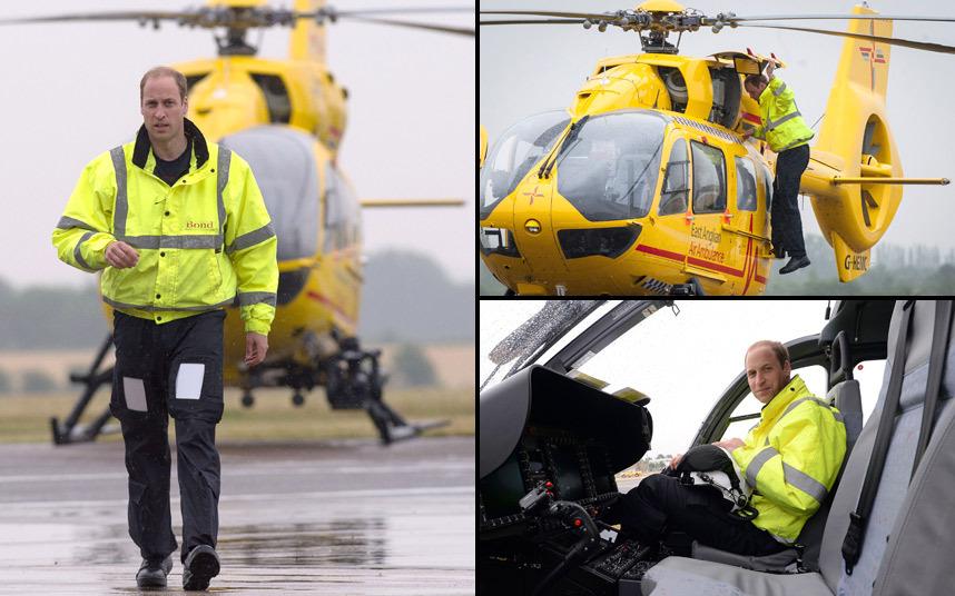 دوق كامبريج يبدأ عمله الجديد في قوات الإسعاف والإنقاذ الجوي