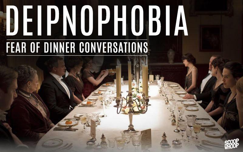 الرهاب الشديد من أحاديث الجالسين على طاولة الطعام!