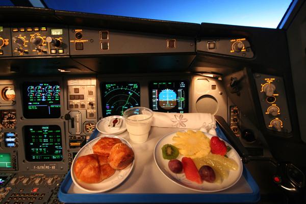 وجبات قبطان الطائرة
