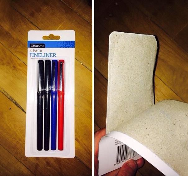 علبة أقلام حبر