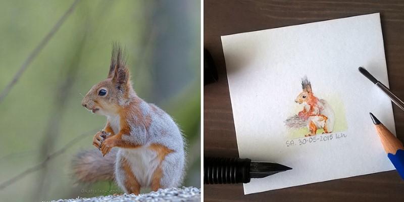 رسم حيوانات