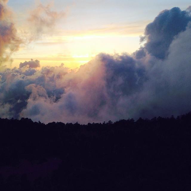 جبال شاهقة وغيوم في أبها