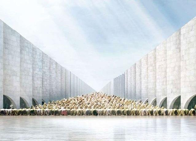 """صور: تصاميم المساجد الأحدث - تصميم مقترح لـ""""المسجد المختفي"""" (The Vanishing mosque)- دبي"""