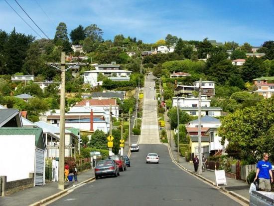 تعرف على الطريق السكني الأشد انحداراً في العالم